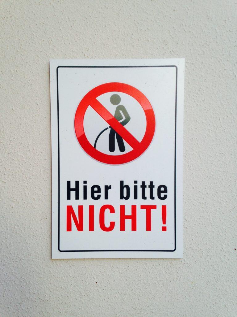 Hier bitte nicht!