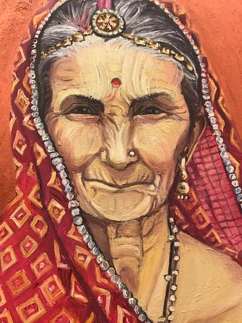 The Old Indian Woman by Iwa Kruczkowska-Król