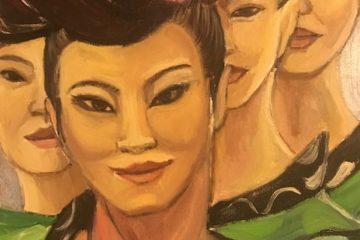 Iwa Kruczkowska-Król Chinki, artysta malarz